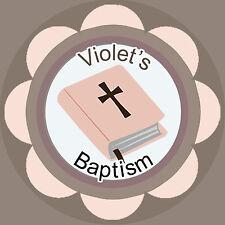 Un jour peut-être 24 Comestibles Papier de Riz cup cake garnitures-baptême etc-B...