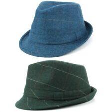 tweed feutre Chapeau Borsalino bleu laine verte Hawkins TISSU EN ÉPI