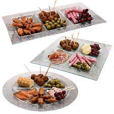 Grand verre assiette de service plateau plat assiette bol condiment tapas viande Sushi Poisson