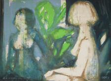 """""""Femme nue au miroir"""" Lithographie signée Jordi BONAS"""