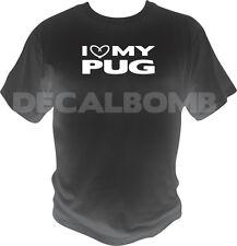 I heart my PUG T-Shirt - dog puppy love shirt