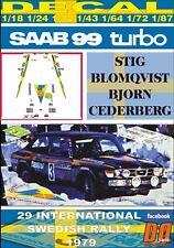 DECAL SAAB 99 TURBO S.BLOMQVIST SWEDISH R. 1979 WINNER (06)