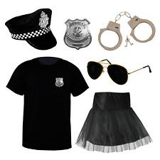 MENS LADIES POLICEMAN POLICEWOMAN COSTUME COP FANCY DRESS OUTFIT COPPER UNIFORM