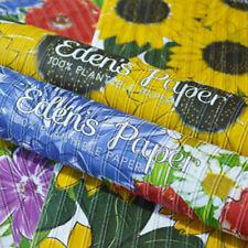 3x De l'Eden Papier Papier cadeau avec tissé Bio Semences à Plante