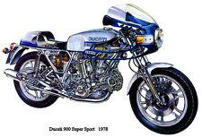 1978 Ducati 900 Super Sport - Promotional Advertising Poster