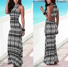 Vestito Lungo Estivo Schiena nuda - Woman Summer Maxi Dress 110192