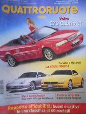 Quattroruote 524 1999 Sfida Porsche-Maserati.Allegato Alfa,Lancia,Fiat