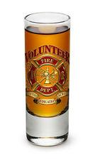 2 Ounces Shooter Shot Glass Volunteer Firefighter