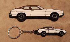 Ford Capri Mk2 Keyring / Tool Box Magnet White