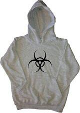 Biohazard Warning Kids Hoodie Sweatshirt