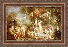 "Peter Paul Rubens The Feast of Venus Framed Canvas Print 27""x18.5"" (V06-17)"
