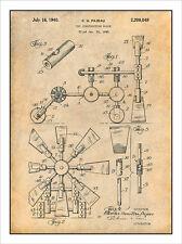1940 Tinkertoys Construction Set Patent Print Art Drawing Poster 18X24
