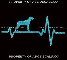 Heart Beat Line Dog Rhodesian Ridgeback hound Adoption Rescue Car Metal Decal