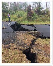 2018 Kilauea Volcano Ground Cracks On Hohea Street Silver Halide Photo