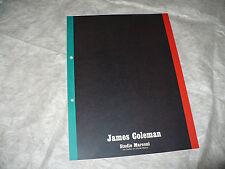 JAMES COLEMAN GALLERIA ARTE STUDIO MARCONI MILANO CATALOGO MOSTRA OTTOBRE 1970