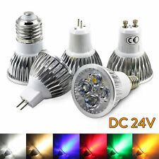 LED Spotlight Dimmable GU10 MR16 GU5.3 B22 E27 LED Lamp 3W 4W 5W DC 24V ST442