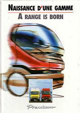 Catalogue  Camion RENAULT   PREMIUM  Naissance d'1 Gamme  RVI  1996  Prospectus