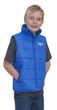 Kids Childs Youth Wulf Logo MX Gilet Wulf Wulfsport Body Warmer Blue - T
