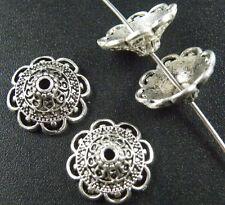 100 Tibet Silver Flower End Bead Caps ZN46022 15.5x7mm/ZN46123 14x5.5mm