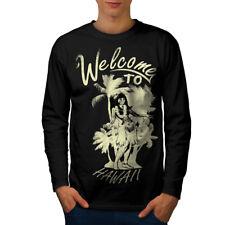 Welcome Hawaii Holiday Men Long Sleeve T-shirt NEW | Wellcoda