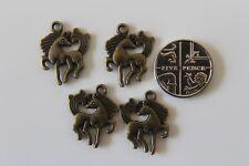 10, 25 ou 50 Antique Bronze Effet en Alliage de Zinc Animal Cheval Charms - 16x19mm