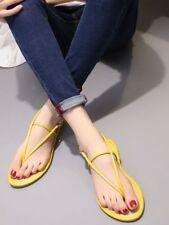Sandali ciabatte donna sabot giallo infradito fashion bassi comodi 8122