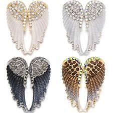 Guardian Angel Wings Brooch Pin Rhinestone Crystal Diamante Jewellery Ladies UK