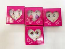 New Children's Clip On Girl's Dangle Earrings Poodles Flowers Stars Fuzzy Balls