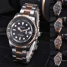 41mm Parnis Rose Gold Bracelet Miyota Automatic Movement Men's Watch 5 ATM Date