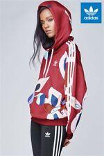 Adidas Originals W Rita Ora Number Print Burgundy Hoodie Size UK 6, 14 (654)