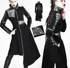 Manteau gothique punk lolita métal asymétrique laçage patchwork argent Punkrave