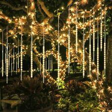8pcs Meteor Shower Falling Star Rain Drop Icicle Snow Fall LED Strip Light Gift