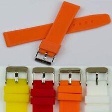 Suave Suave Silicona Goma Reloj Correa 20mm Naranja Amarillo Rojo Blanco Banda Sports