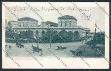 Napoli Stazione PIEGA cartolina D5733 SZD