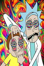 Rick and Morty TV Animation Psychédélique Poster T477