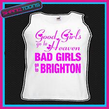 Chicas malas ir a Brighton Gallina Fiesta Vacaciones Chaleco Top