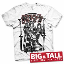 Licenza Ufficiale KISS-I LOVE IT LOUD 3XL, 4XL, 5XL T-shirt Uomo