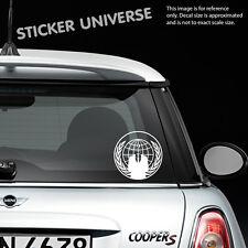 "ANONYMOUS 5.25"" Diameter Vinyl Die Cut Decal Bumper Sticker Conspiracy Hacker"