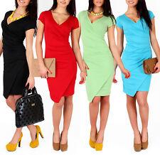Very Elegant Wiggle Dress V-Neck Pencil Party Formal Mini Dress Size 8-16 FA119