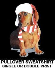 Cute Lovable Christmas Holiday Hat Dachshund Funny Dog Pullover Sweatshirt 703