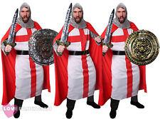 Da Uomo Costume da Cavaliere con Spada e scudo adulto St George Costume Medievale