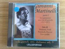GIOVANNI MARTINELLI (DONIZETTI, VERDI)- GRANDI VOCI VOL.3 - CD SIGILLATO(SEALED)