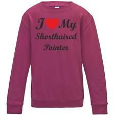 I Love My Shorthaired Pointer Dog Kids Childrens Sweatshirt Jumper Birthday Gift
