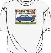 'Ticking Tappets Garage Services' t-shirt.  Saab 96