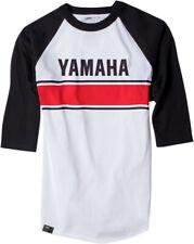 Factory Effex Licensed Yamaha Vintage Baseball Shirt White/Black Mens All Sizes