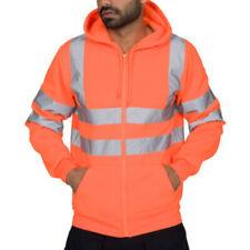 Uomo Colore Segnaletico Giacca Avviso Giubbotto Sicurezza Lavoro Jumper  Felpa 59b3905f1fa