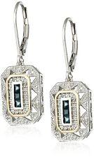Silver Sapphire Art Deco-Style Drop Earrings 5 Style Retro Delicate Jewelry 925