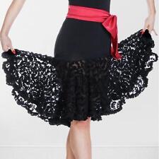 Black salsa tango Samba Rumba Ballroom Dance Latin skirt