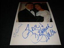 """KEN KERCHEVAL & DEBORAH SHELTON signed Autogramme auf 20x30 cm """"DALLAS"""" InPerson"""