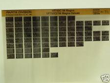 Microfiche Honda Fiche for 1998 VF750C/C2 Magna Deluxe